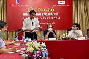 Hội Nhà văn Việt Nam tổ chức Giải thưởng Tác giả trẻ