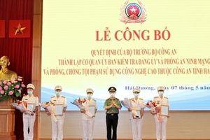 Thành lập Cơ quan Ủy ban kiểm tra Đảng ủy Công an tỉnh Hải Dương