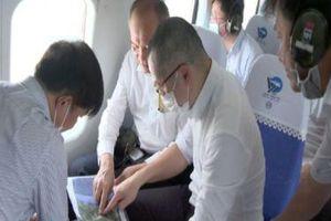 Lãnh đạo Phú Yên khảo sát quy hoạch bằng trực thăng