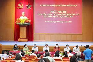 Người ứng cử đại biểu Quốc hội khóa XV tiếp xúc cử tri quận Thanh Xuân