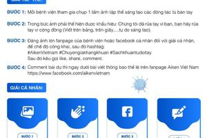 4 bước để tham dự cuộc thi 'Vì một Việt Nam sạch khuẩn từ đôi bàn tay' của Bộ Y tế