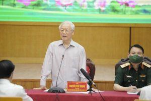 Tổng Bí thư Nguyễn Phú Trọng tiếp xúc cử tri tại TP Hà Nội