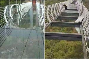 Du khách Trung Quốc gặp sự cố vì cầu kính bị gió thổi bay nhiều mảnh