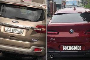Hai ôtô ở Đồng Nai cùng mang biển số 'siêu đẹp'