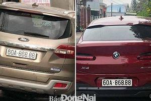 Tạm giữ ô tô Ford biển số giả ở Đồng Nai