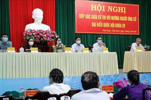 Các ứng cử viên tiếp xúc cử tri, vận động bầu cử tại Ninh Thuận