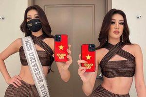 Khánh Vân diện crop-top khoe eo trứ danh, đeo sash Việt Nam đầy tự hào: Luôn hết mình vì màu cờ sắc áo