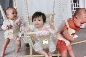 Leon, Lisa, Winnie nhún nhảy cực yêu trên xích đu, bé nào là 'thiên thần' thế hệ mới?