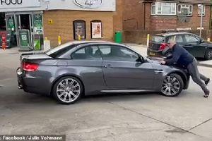Trộm 'thổi bay' xe BMW trong tíc tắc, chủ xe ngăn chặn suýt mất mạng