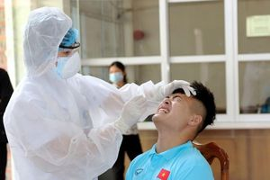 U22 Việt Nam được lấy mẫu xét nghiệm