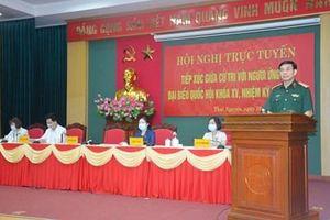 Bộ trưởng Phan Văn Giang dự Hội nghị trực tuyến tiếp xúc cử tri tại Thái Nguyên