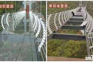 Trung Quốc: Du khách suýt rơi tự do vì cầu kính bị vỡ