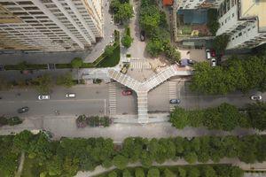 Mục sở thị cầu đi bộ có hình chữ Y đẹp nhất Thủ đô Hà Nội