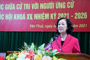 Mong muốn ứng cử viên mang tiếng nói của cử tri Hòa Bình đến các diễn đàn Quốc hội