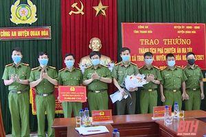 Khen thưởng Công an huyện Quan Hóa trong phòng, chống tội phạm ma túy