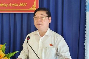 Chủ tịch VUSTA Phan Xuân Dũng, các ứng viên ĐBQH tiếp xúc cử tri 4 xã Phước Tiến, Phước Tân, Phước Hòa, Phước Bình