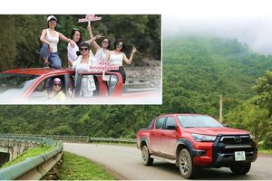 'Người hùng' Toyota Hilux dẫn đầu hành trình khám phá mùa xuân Tây Bắc