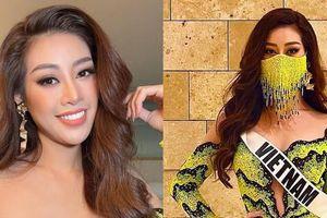 Hoa hậu Khánh Vân diện thiết kế ruộng bậc thang, ngay cả khẩu trang cũng gây ấn tượng mạnh