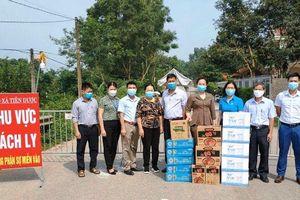 Hỗ trợ nhu yếu phẩm cho 4 khu cách ly phòng dịch Covid-19 tại huyện Sóc Sơn