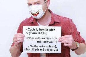 Kyo York gây sốt với bài Trống cơm phiên bản Anh-Việt chống Covid-19