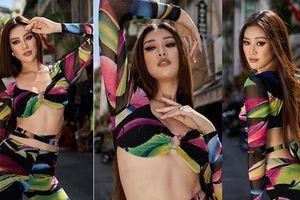 Ngày đầu tập luyện ở Miss Universe, Khánh Vân khoe eo 'con kiến' nóng bỏng