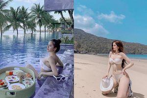 Vợ cũ vlogger Huy Cung đăng ảnh ở hồ bơi nhưng netizen chỉ chú ý chính đến vòng 1 'đẫy đà bất thường'
