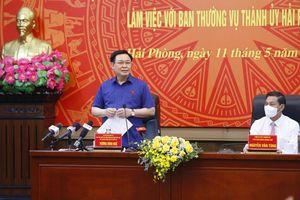 Chủ tịch Quốc hội làm việc tại TP Hải Phòng