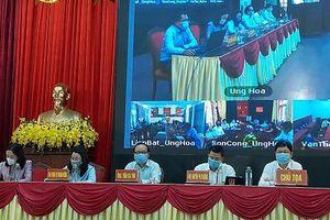 Ứng cử viên đại biểu HĐND TP Hà Nội khóa XVI vận động bầu cử tại huyện Ứng Hòa