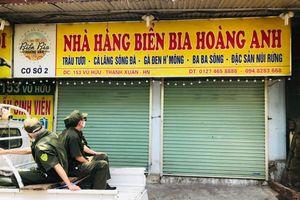 Chùm ảnh: Hàng quán bia hơi trên địa bàn quận Thanh Xuân chấp hành quy định đóng cửa để phòng dịch