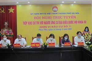 Các ứng cử viên Đại biểu Quốc hội khóa XV tiếp xúc cử tri huyện Phúc Thọ