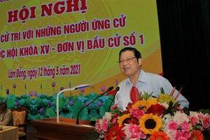 Đồng chí Phan Đình Trạc tiếp xúc cử tri tại Học viện Lục quân