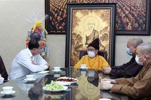Lãnh đạo TP.HCM chúc mừng một số cơ sở Phật giáo nhân lễ Phật đản
