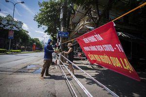 Cận cảnh các điểm phong tỏa phòng chống COVID-19 ở thành phố Hòa Bình