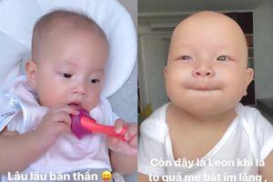 Lisa vừa ăn vừa trầm tư chả bù Leon bị mẹ bắt 'nín' vì la to khiến fan ôm bụng cười