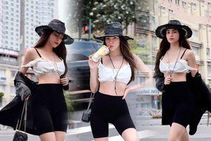 Hồ Ngọc Hà mặc quần biker bó sát rạt cực sành điệu mà không dính lỗi phản cảm