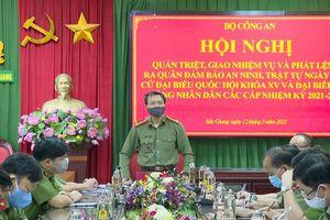 Giám đốc Công an tỉnh Bắc Giang phát lệnh ra quân bảo đảm an ninh, trật tự ngày bầu cử