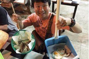 'Hú hồn' cách bày thức ăn của các hàng quán, vợt cá hay ky rác cũng không tha