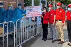 Hội Chữ thập đỏ các cấp hỗ trợ công tác phòng chống dịch tại Bệnh viện K