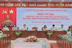 Ứng viên HĐND TP Hà Nội vận động bầu cử tại quận Nam Từ Liêm