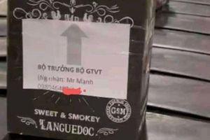 Chấm dứt hợp đồng với nhân viên gắn tên Bộ trưởng GTVT lên vỏ thùng rượu Macallan