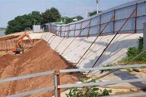 Thi công nhà máy nước sông Hồng: Gây nứt gãy nghiêm trọng đê