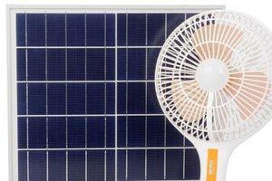 Quạt năng lượng mặt trời hút khách ngày hè