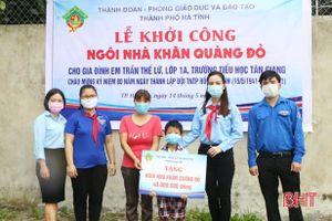 Khởi công ngôi nhà 'Khăn quàng đỏ' và ra mắt 2 công trình măng non tại TP Hà Tĩnh