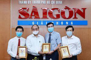 Hình ảnh Chủ tịch nước thăm Báo SGGP và Đài Truyền hình TP.HCM