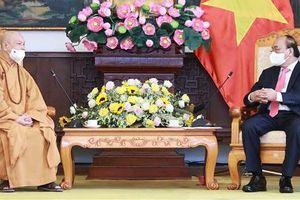 Chủ tịch nước tiếp Lãnh đạo Giáo hội Phật giáo Việt Nam