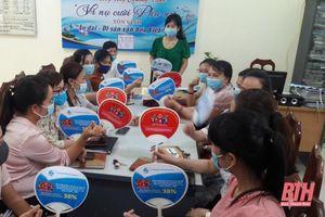 Hội LHPN huyện Đông Sơn đẩy mạnh tuyên truyền bầu cử