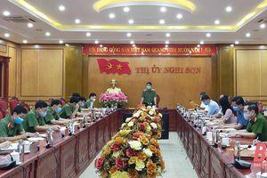 Giám đốc Công an tỉnh Trần Phú Hà kiểm tra công tác chuẩn bị bầu cử tại thị xã Nghi Sơn