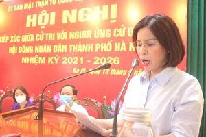 Người ứng cử đại biểu HĐND thành phố Hà Nội tiếp xúc cử tri huyện Ba Vì