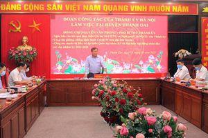 Huyện Thanh Oai bảo đảm an toàn phòng, chống dịch để cuộc bầu cử thành công