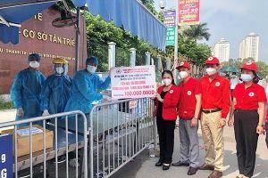 TƯ Hội Chữ thập đỏ Việt Nam hỗ trợ chống dịch cho BV K cơ sở Tân Triều